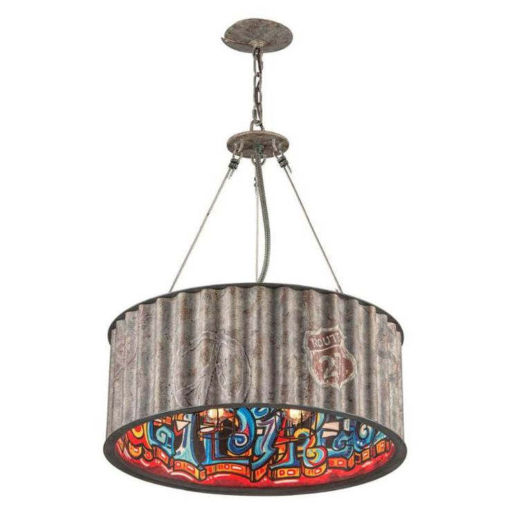 troy f4765 street art 5 light pendant inweathered galvanized