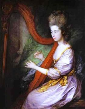 Portrait of Louisa, Lady Clarges - Томас Гейнсборо