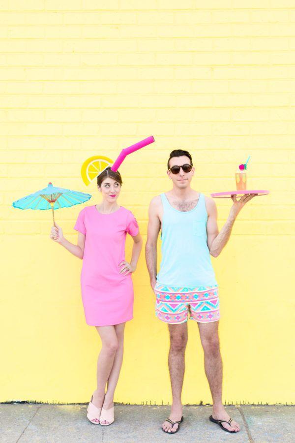 DIY Tropical Drink + Pool Boy Couples Costume - Studio DIY