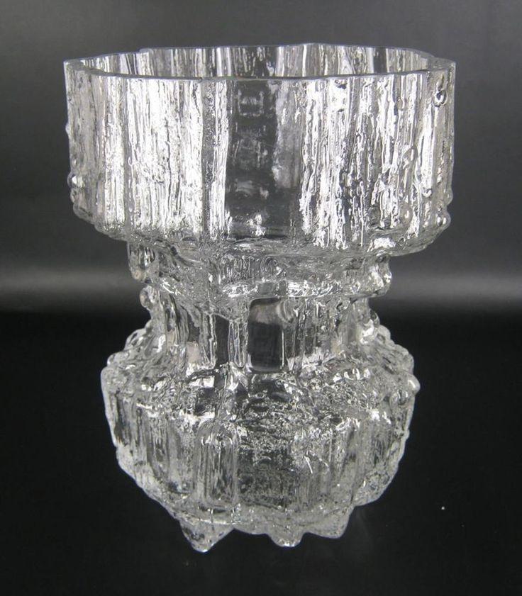 Iittala Glas Vase Serie Gerania Tapio Wirkkala Design