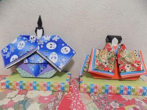 折り紙で雛祭り 華やかなお雛様 着物の折り方作り方 Origami Hina Doll - YouTube