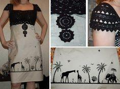 Звероконкурс: мое африканское платье / Платья Diy /