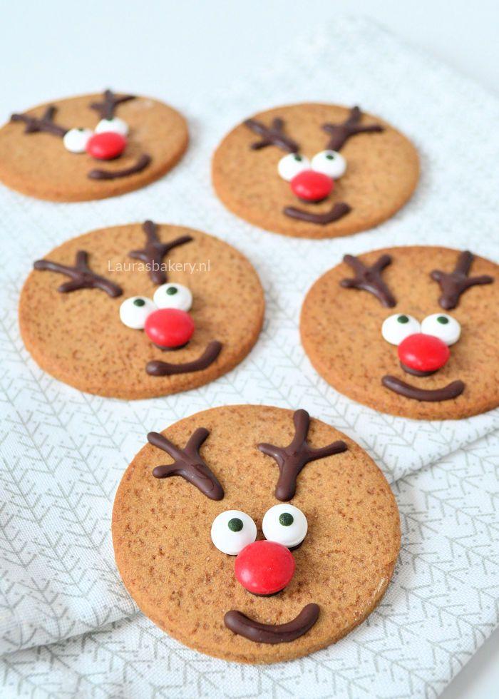 Dit zijn de meest simpele rudolph het rendier koekjes die je kunt maken, maar wel kerstkoekjes waarmee je heel veel indruk maakt.