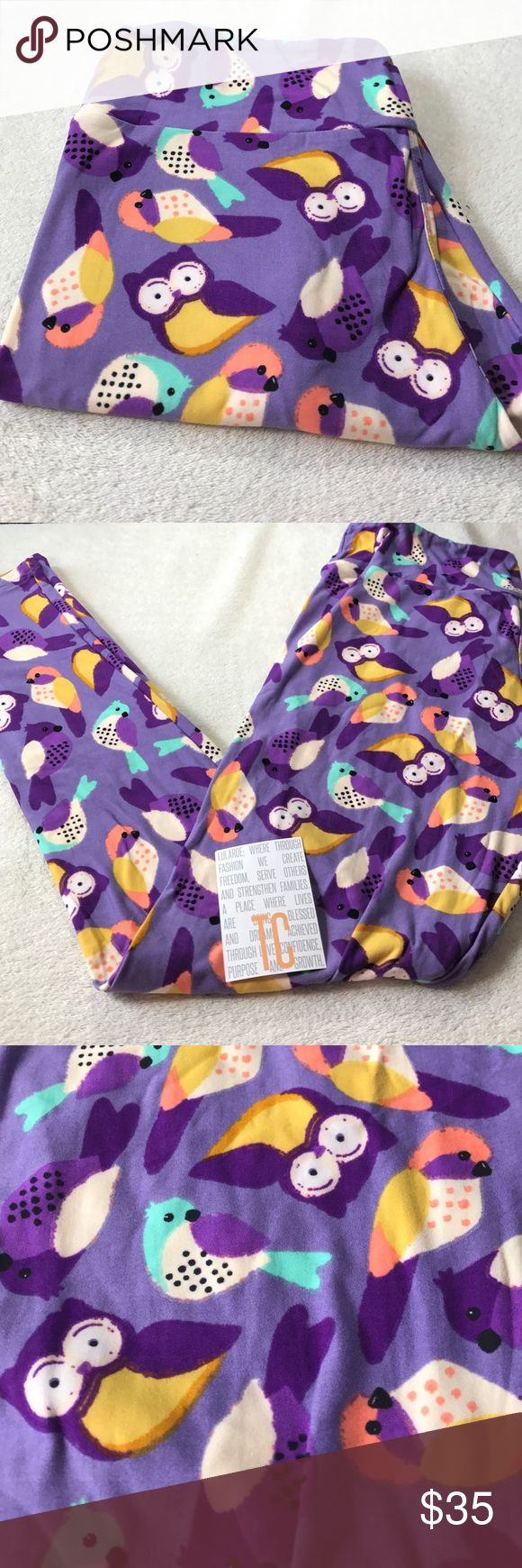 LuLaRoe Tall and curvy leggings nwt LuLaRoe Tall and curvy leggings nwt. ❤️ price is firm unless bundled. Beautiful owl print LuLaRoe Pants Leggings