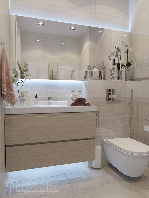дизайн интерьера гостевого санузла в Сочи,ЖК Лазурный. Ванная