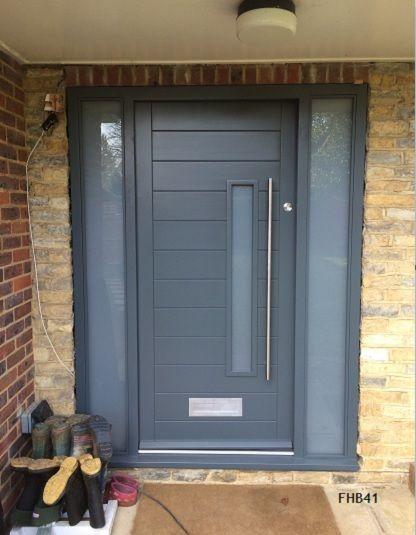 grey contemporary door
