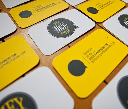 9325 best creative innovative business cards images on pinterest love the yellow and grey business card design reheart Images