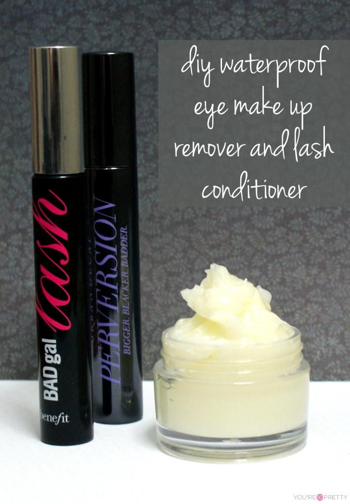 DIY Water Proof Eye Makeup Remover and Lash Conditioner   DIY makeup, essential oil recipes, and miscellaneous homemade beauty products at You're So Pretty.    #youresopretty   youresopretty.com