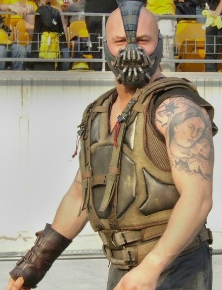 Batman! Bane costume closeup! So excited!