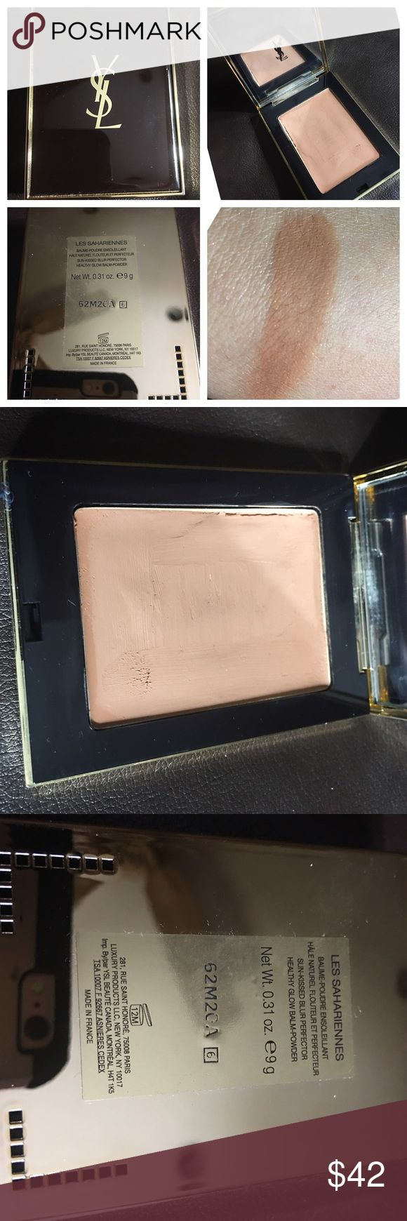 YSL Cream Bronzer Les Sahariennes This is a beautiful YSL cream bronzer. Amazing for summer. This top layer has been cleaned and sanitized. Was used once but is too dark for me. Needs a home Yves Saint Laurent Makeup Bronzer