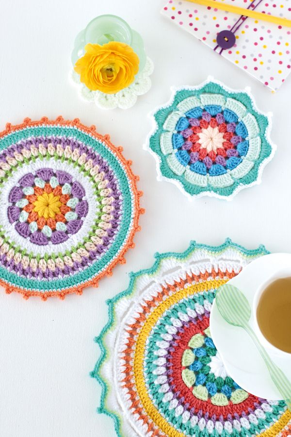 Just beautiful. Crochet mandalas