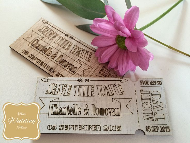Wedding Save The Date - Ticket