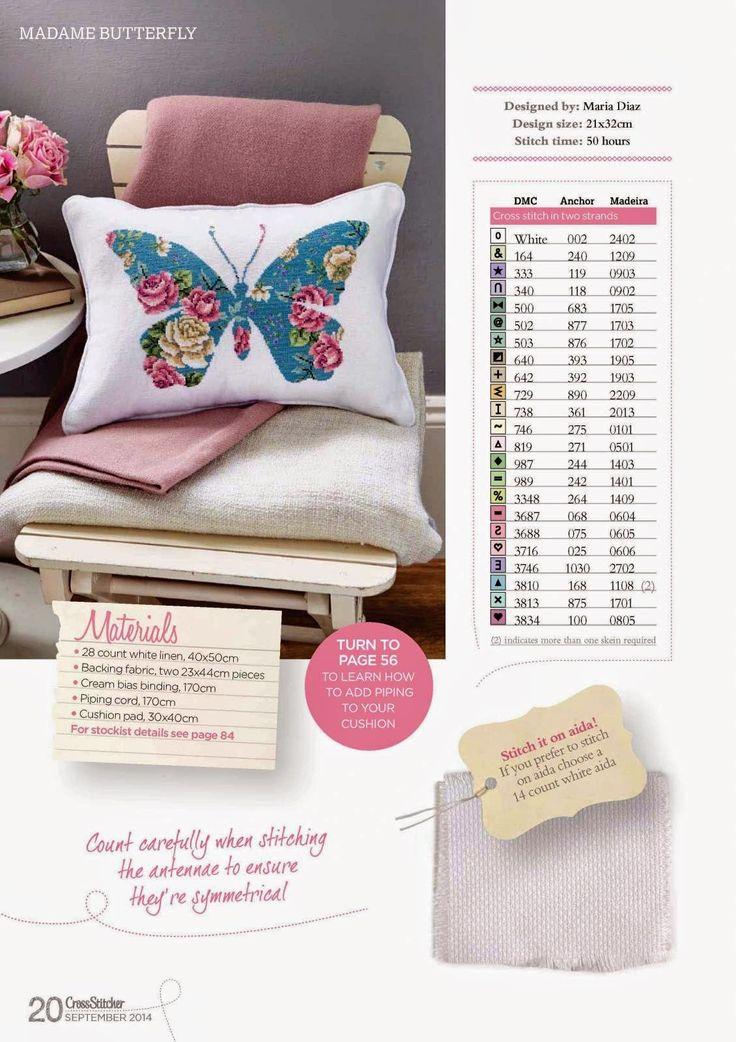Madame Butterfly - Gráfico Ponto Cruz!