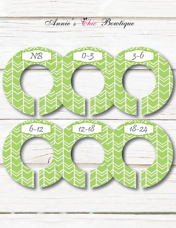 Green Closet Dividers, Gender Neutral Dividers, Baby Closet Organizers, Baby closet dividers, Baby shower gift, Baby clothes Dividers, C159 by AnniesChicBowtique on Etsy