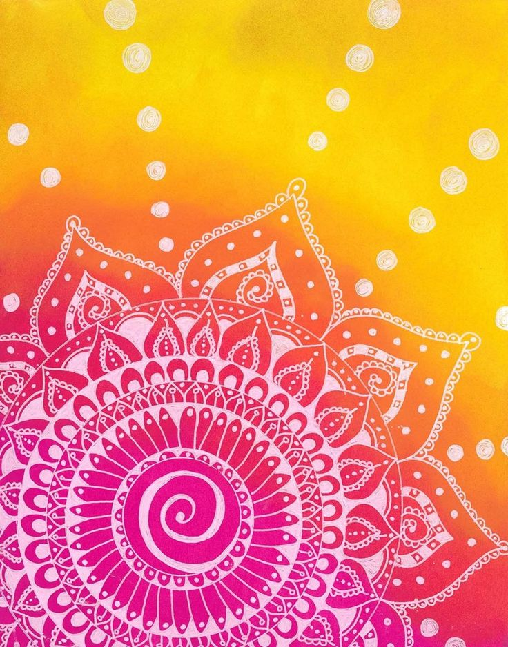 ~SUNSET MANDALA~ Healing & Meditative  ❤️️Red = strength, energy and passion  Orange = self-awareness and creativity Yellow = learning, wisdom, and laughter Pink= love