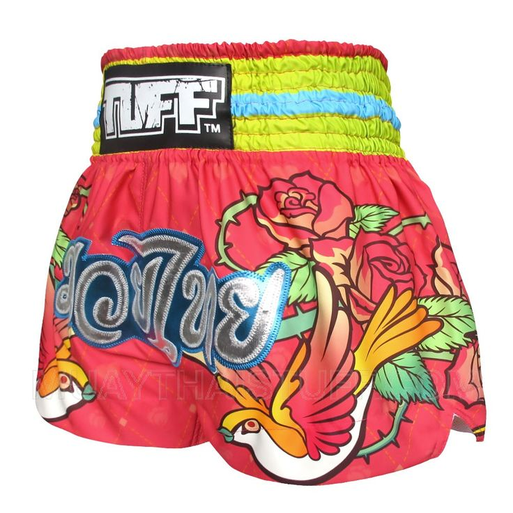 TUFF Muay Thai Boxing Shorts Classic Rose