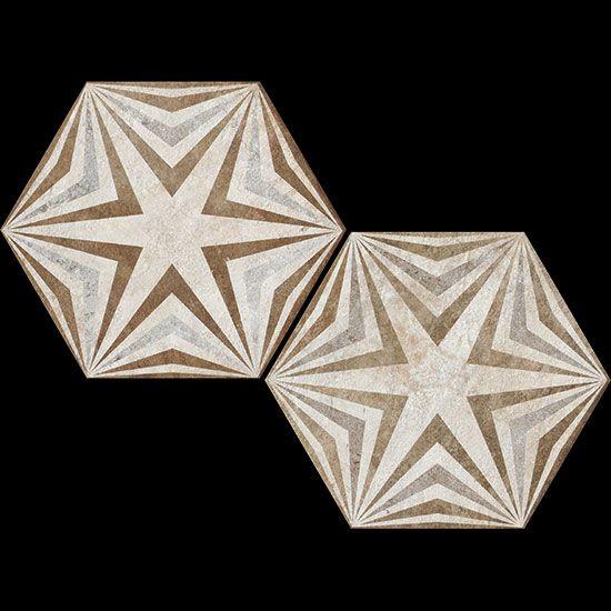 Heritage Exagona Deco Texture 3 Heritage Ceramiche