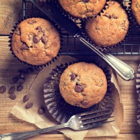 Banana and chocolate chip muffins - Chelsea sugar