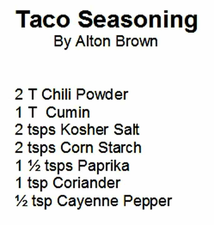 Taco Seasoning by Alton Brown