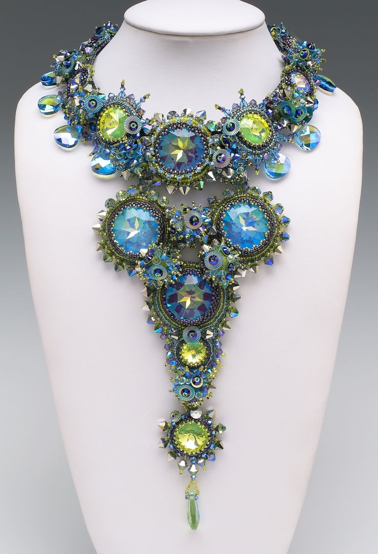 """Sherry Serafini, words cannot express how talented this artist is! Everything is done by hand and designed by her. Her work is worn """"by Grammy winner Melissa Etheridge, Steven Tyler of Aerosmith, Lenny Kravitz, and singer Fergie of the Black Eyed Peas"""" ~narrative from her website #PurelyInspiration http://www.serafinibeadedjewelry.com/category_s/1847.htm"""