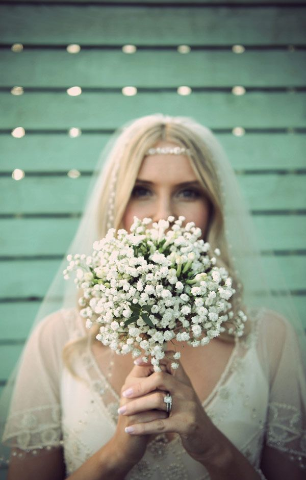 Simple Baby's Breath Bouquet captued by Paula Gillespie Photography | onefabday.com