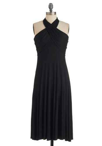 Style-a-Day Dress in Friday Night - Black, Solid, Short, Party, Maxi, Halter, Summer, c*cktail, Jersey, Variation, Beach/Resort, LBD