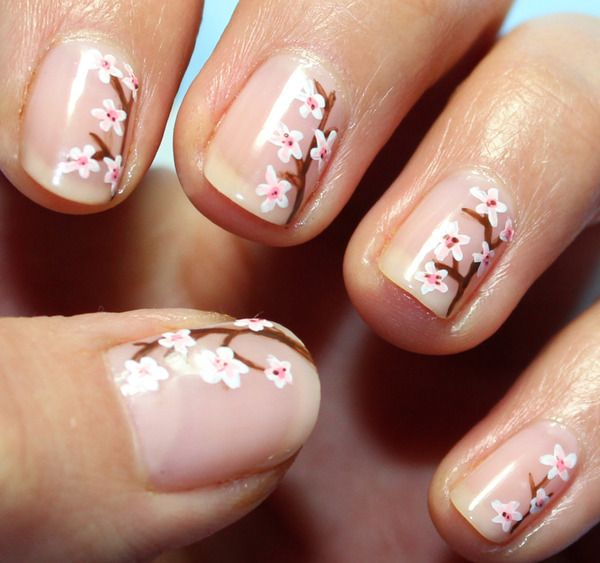 Twigs and Figs - cherry blossom nails