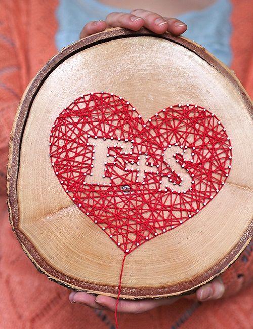 TUTORIAL - Iniziali su legno con chiodi e filo - Tecniche artigianali su DaWanda