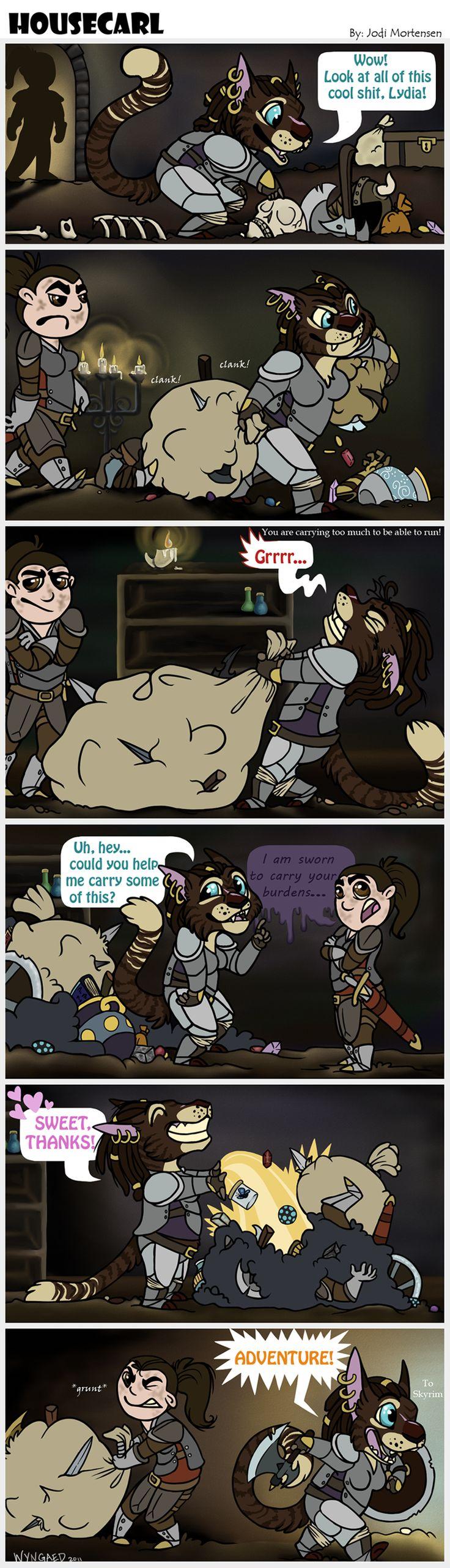 Housecarl - A Skyrim Comic by wyngaed.deviantart.com
