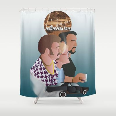 The Trailer Park Boys come into your bathroom with tis great Shower Curtain