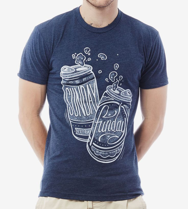 Blue Sunday Funday Beer T-Shirt | Never underestimate Sunday, the best day for day drinking. Thi... | T-Shirts