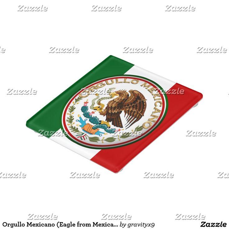 SOLD! Orgullo Mexicano (Eagle from Mexican Flag) Glass Coaster by #gravityx9  #zazzle