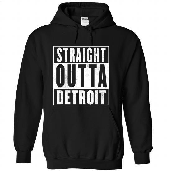 STRAIGHT OUTTA DETROIT - #linen shirts #black zip up hoodie. BUY NOW => https://www.sunfrog.com/LifeStyle/STRAIGHT-OUTTA-DETROIT-Black-68225604-Hoodie.html?60505