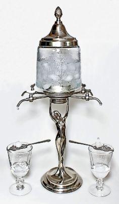 Art nouveau lady absinthe fountain, four taps :)