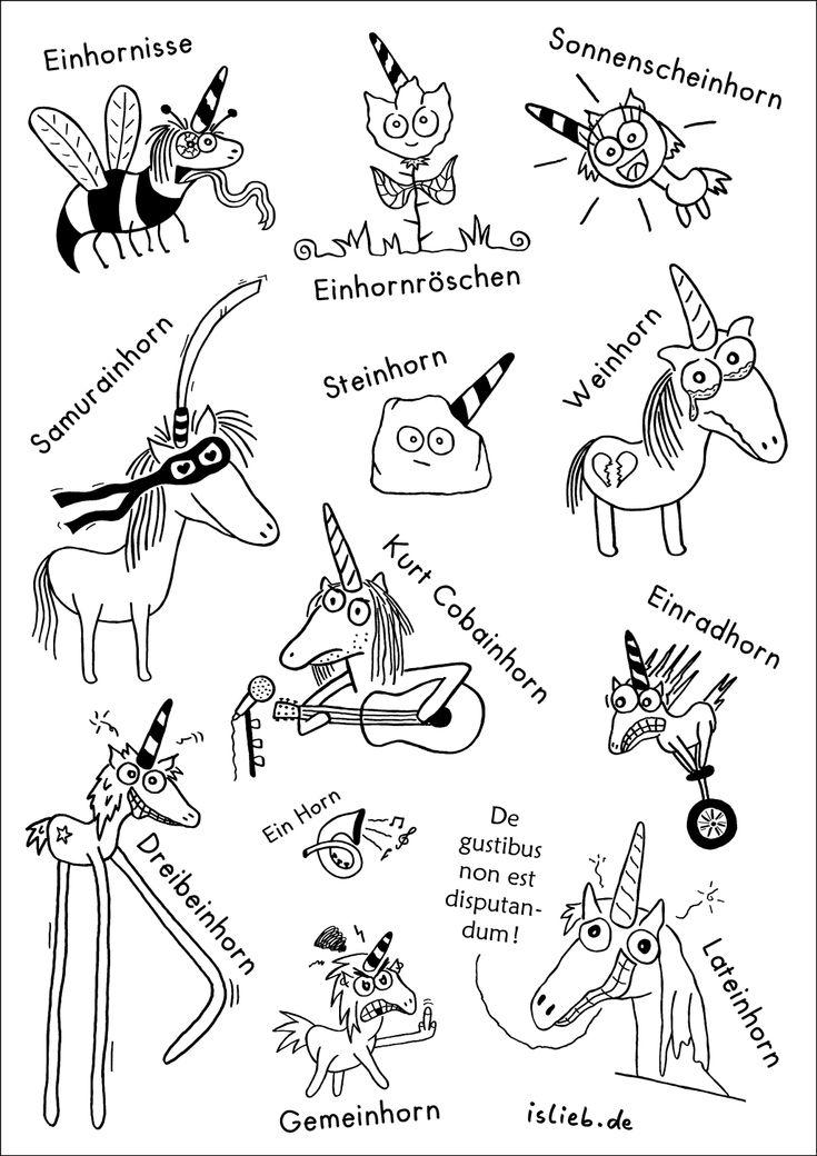 Einhornposter! :) Nur gegen Vorbestellung. Wer ein Poster will, klickt hier: http://islieb.de/einhornposter/  #islieb