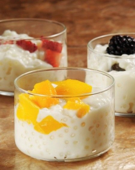 Tapioca c fruta. Para un momento de antojo o como desayuno ligero.