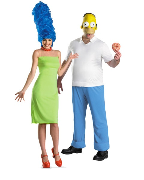 Womens Deluxe The Simpsons Marge Costume