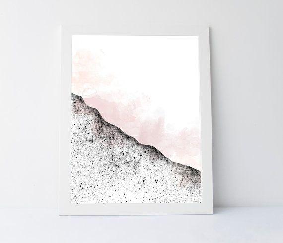 Abstract landscape scandinavian design by PrintableGiftIdeas