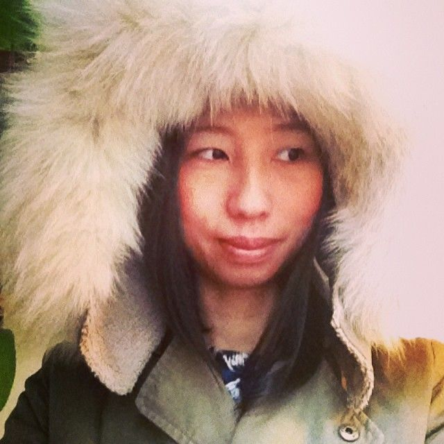Do I look like an eskimo girl? :) #diy #manteau #fur #fourrure #vintage #recup #recycle #upcycled #episode #paris #lespetites #blog #blogmode #blogmodeparis