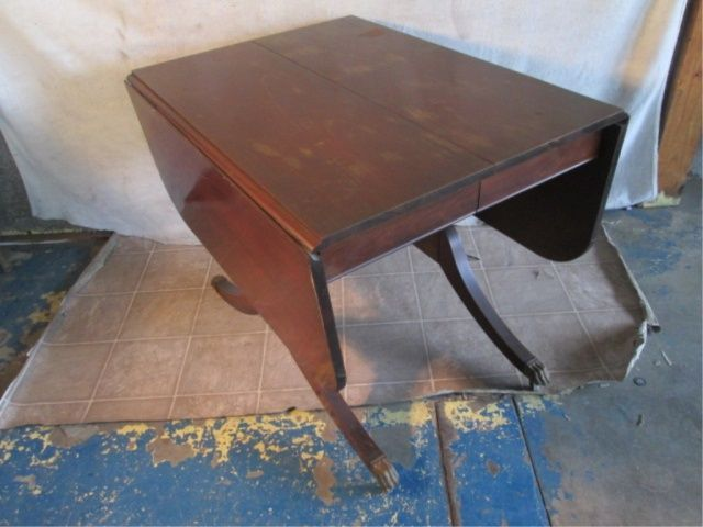Antique Claw Foot Drop Leaf Table Google Search Rustic