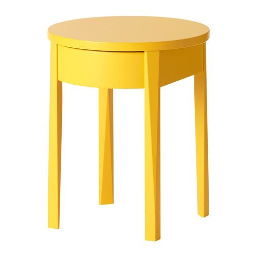 $99. Fun Yellow nightstand // STOCKHOLM Nightstand IKEA Two adjustable legs to give stability if the floor is uneven.