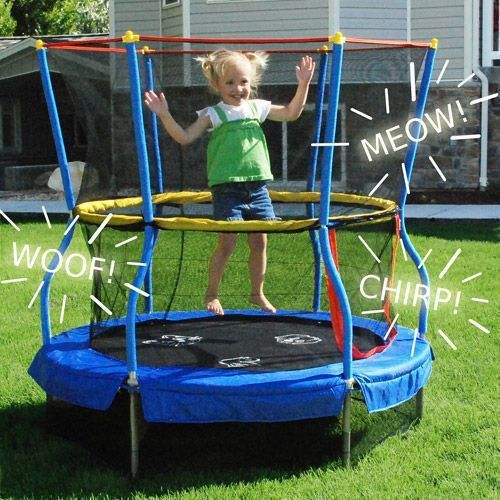 Preschool Indoor Outdoor Trampoline Learning Fun Toddler Play Bouncer Moonbounce #PreschoolLearningandActivityToys #ToddlerTrampoline