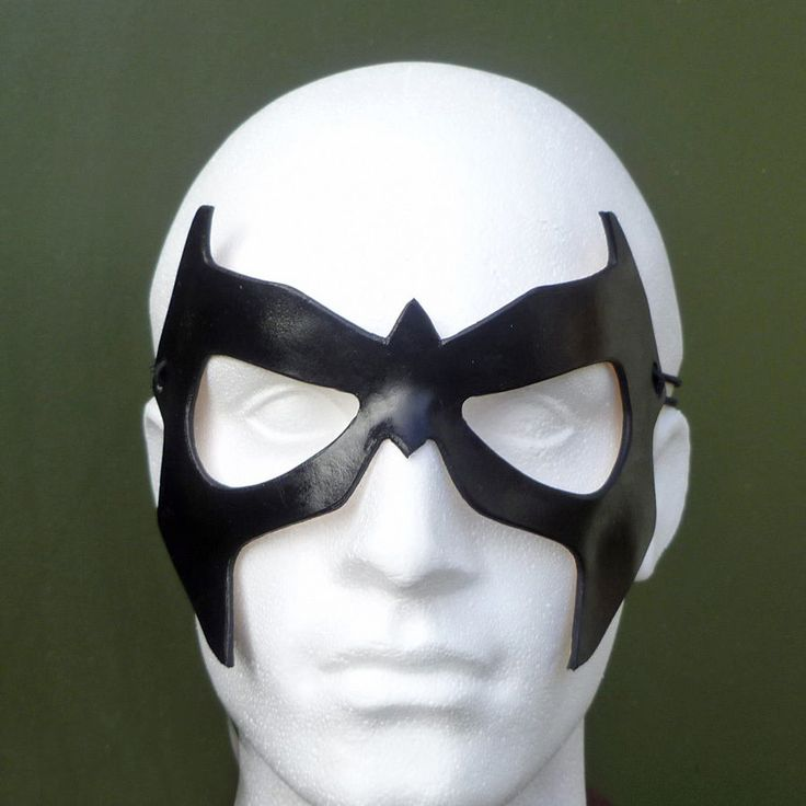 NIGHTWING Mask Leather Dick Grayson Batman Costume Halloween Fancy Dress Mask | eBay