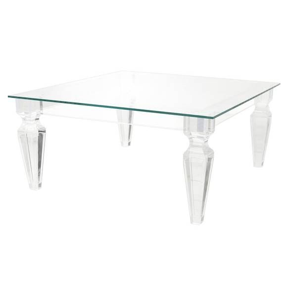 Beverly HIlls Lucite Coffee Table