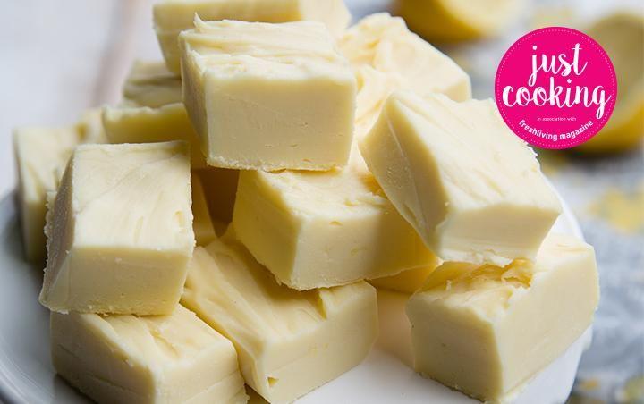 Lemon white chocolate fudge