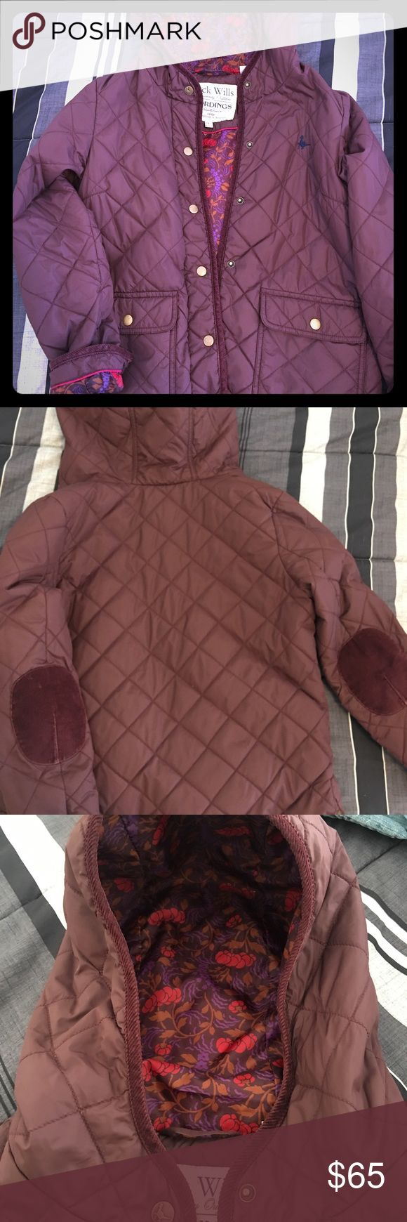 Jack wills maroon quilted coat More maroon in person and barely worn Jack Wills Jackets & Coats