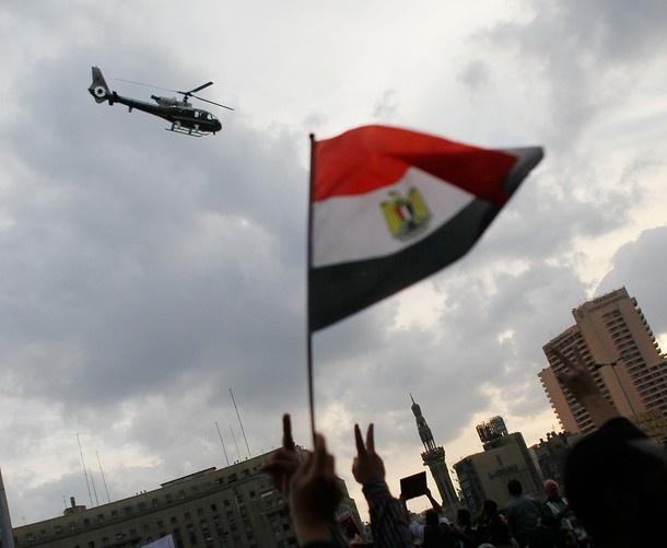 2011 Egyptian revolution Egyptian Flag in Tahrir Square