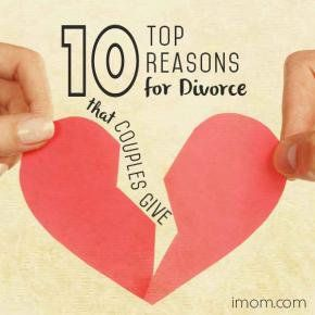 Top 10 Reasons for Divorce- Don't let these things stop you from having a great marriage!