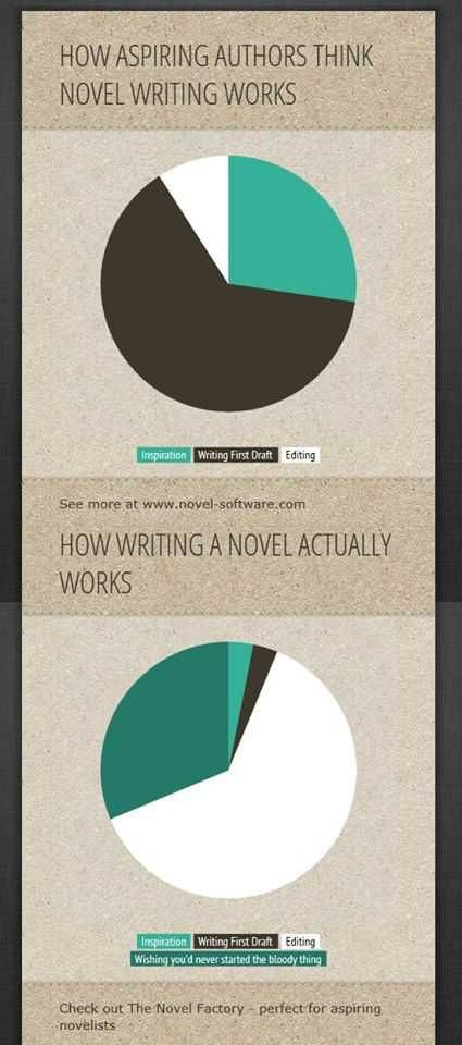 30 best resources for authors images on pinterest creative writing how aspiring writers think novel writing works vs how writing a novel actually works infographic fandeluxe Image collections