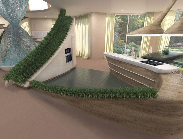 Кухня и обеденная зона в загородном доме - ALNO. Современные кухни: дизайн и эргономика | PINWIN - конкурсы для архитекторов, дизайнеров, декораторов